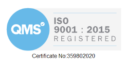 ISO 9001 : 2015 | Certificate #359802020